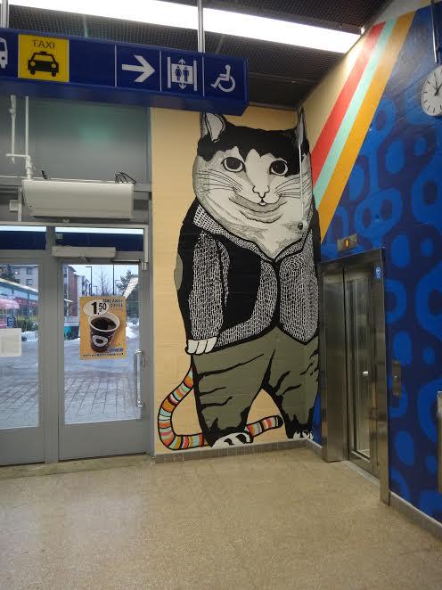Роспись станции метро Мюрмяки