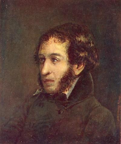 Портрет Александра Сергеевича Пушкина. Некоторые исследователи считают его автором Ивана Линёва.