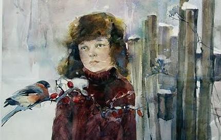 Наталья Васильева (Казань). Снегирь