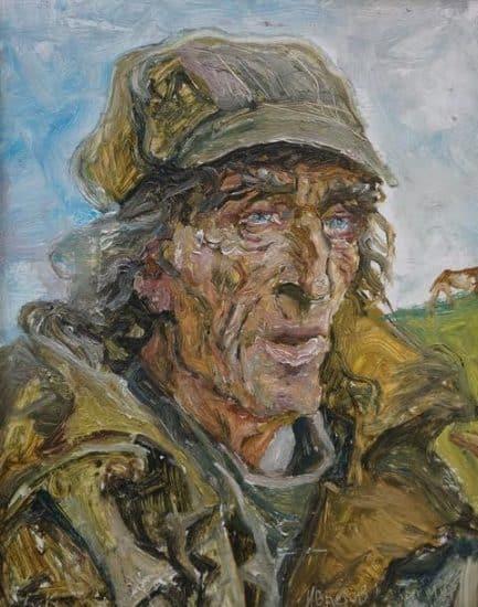 Борис Кукшиев. Портрет пастуха. Создан во время пленэра в заонежской деревне Фоймогуба