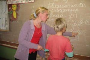 На уроке карельского языка в Куйтежской школе, которой больше нет