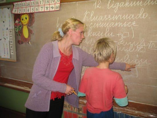 На уроке карельского языка в Куйтежской школе, которой больше нет. Фото Натальи Мешковой