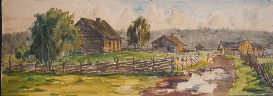 М. Старченко. На краю деревни
