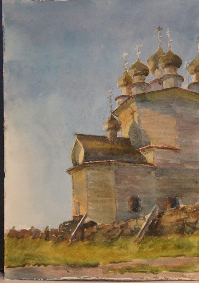 М. Старченко. Остров Кижи. Покровская церковь