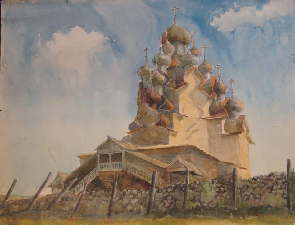 М. Старченко. Остров Кижи. Преображенская церковь