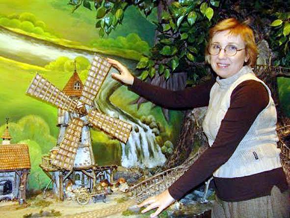 Любовь Малиновская в своей «Маленькой стране». Фото с сайта Музея изобразительных искусств