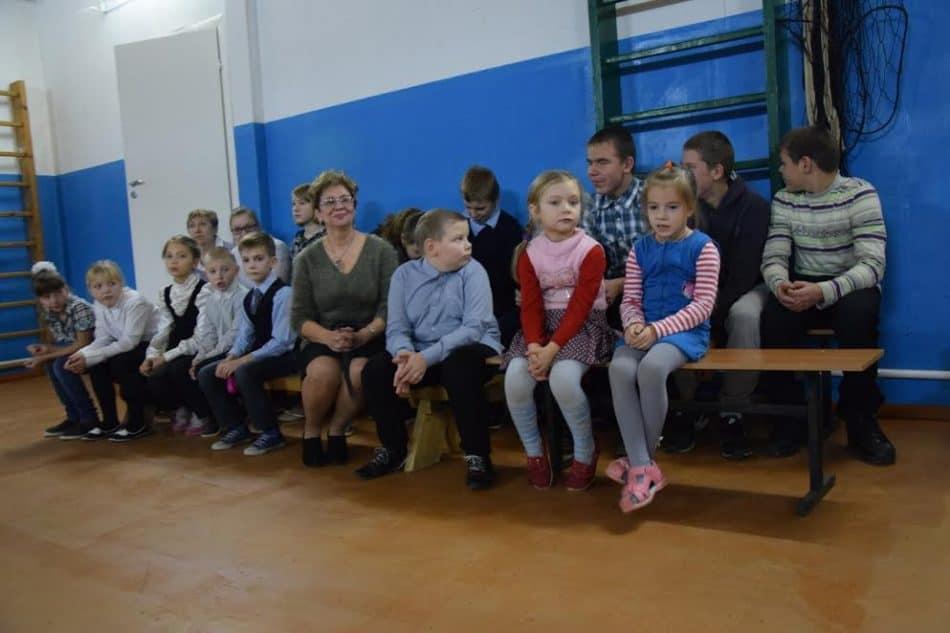 Марина Вдовина и ученики Кепской школы