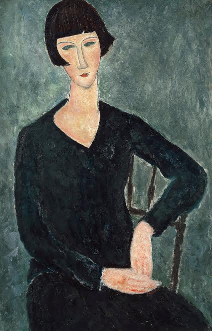 Женщина в синем платье.1917-1919