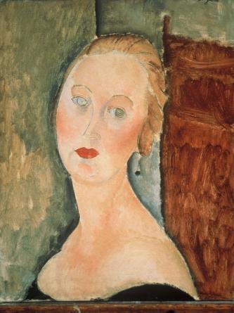 Портрет Жермен Сюрваж с серьгами. 1918