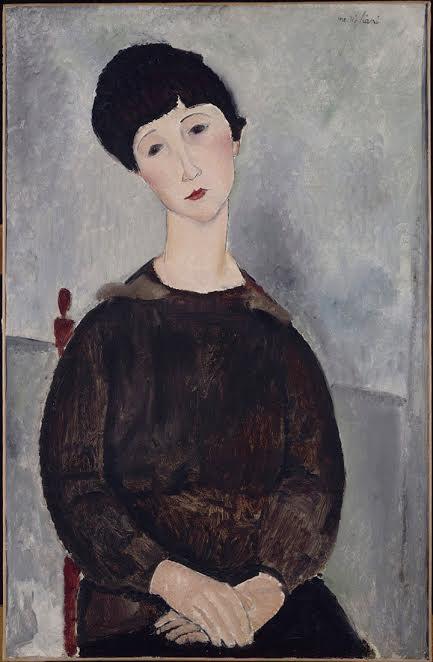 Сидяшая молодая женщина. 1918
