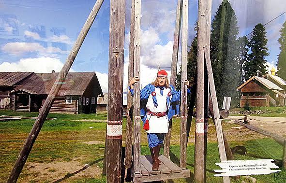 Во время поездки по Карелии Паккайне побывал в одной из самых красивых деревень России – Кинерме. Фото с выставки