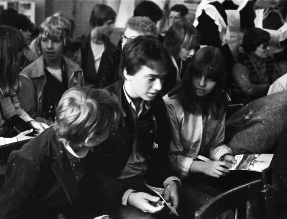 Школьники из Умео в 17-й школе, 1981 год. Архив фотографий Бориса Семенова. vk.com/club116620410