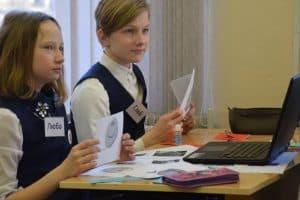 На уроке английского языка в петрозаводской школе. Фото Марии Голубевой