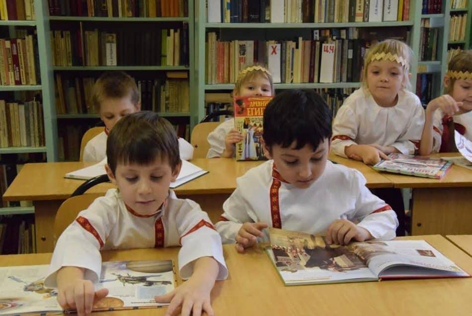 В библиотеке Шокшинской школы