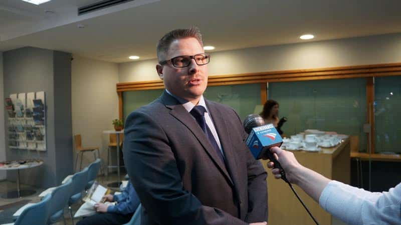 Туомас Киннунен дает интервью Карельскому ТВ