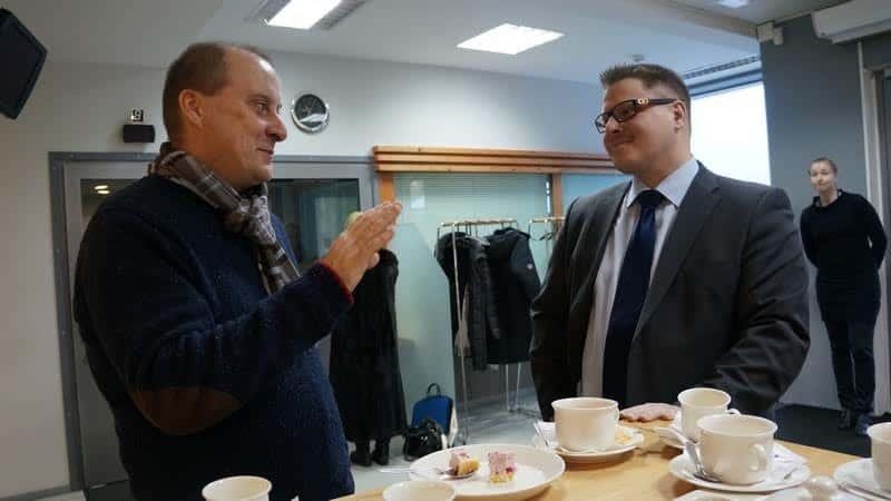 Консул Туомас Киннунен и журналист Валерий Поташов