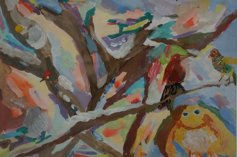 Тимо Ринне, 8 лет. Птичий переполох. Педагог Н. Чехонина
