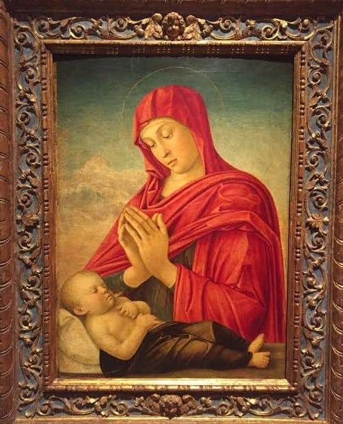 Джованни Беллини . Мадонна с младенцем