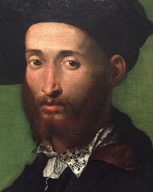 Джулио Кампи. Портрет мужчины в чёрном