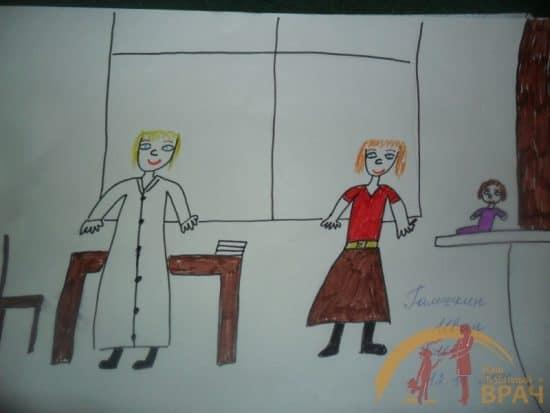 Один из победителей конкурса рисунков Иван Галешкин посвятил свой рисунок врачу Галине Михайловой