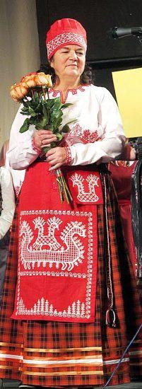 Руководитель Вепсского народного хора Людмила Мелентьева