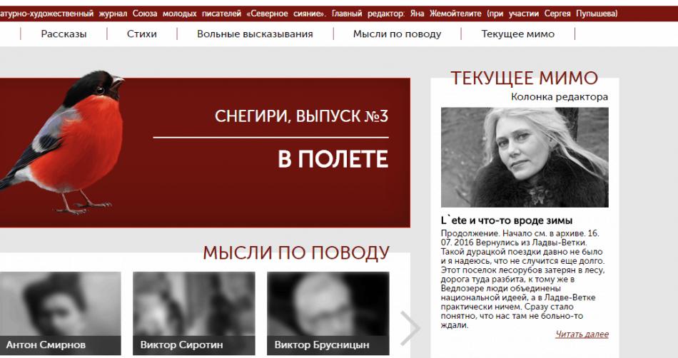 "Интернет-журнал ""Снегири"""