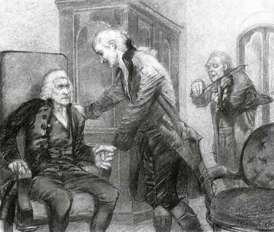 Михаил Врубель. Иллюстрации к «Моцарту и Сальери» Пушкина