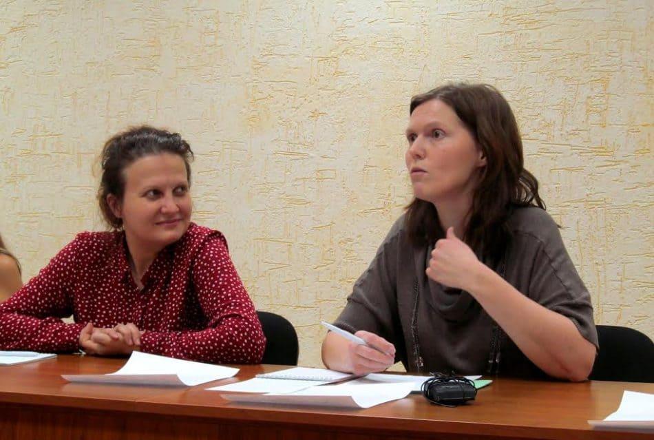 Представители родительской общественности - Ирина Жукова и Ирина Быстревская