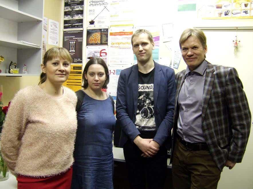 Слева направо: . Анна Афанасьева, Полина Крышень, Алексей Логунов, Сергей Зятьков