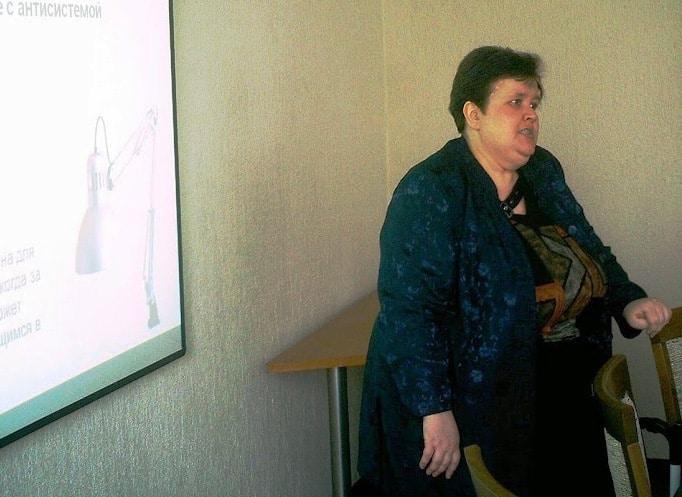 Одно из последних выступлений Анны в клубе педагогов в Минске