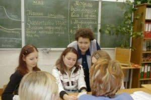 Анна Корзун со студентами