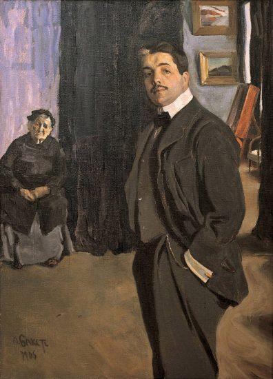 Л. Бакст, портрет С.П. Дягилева с няней, 1905 год