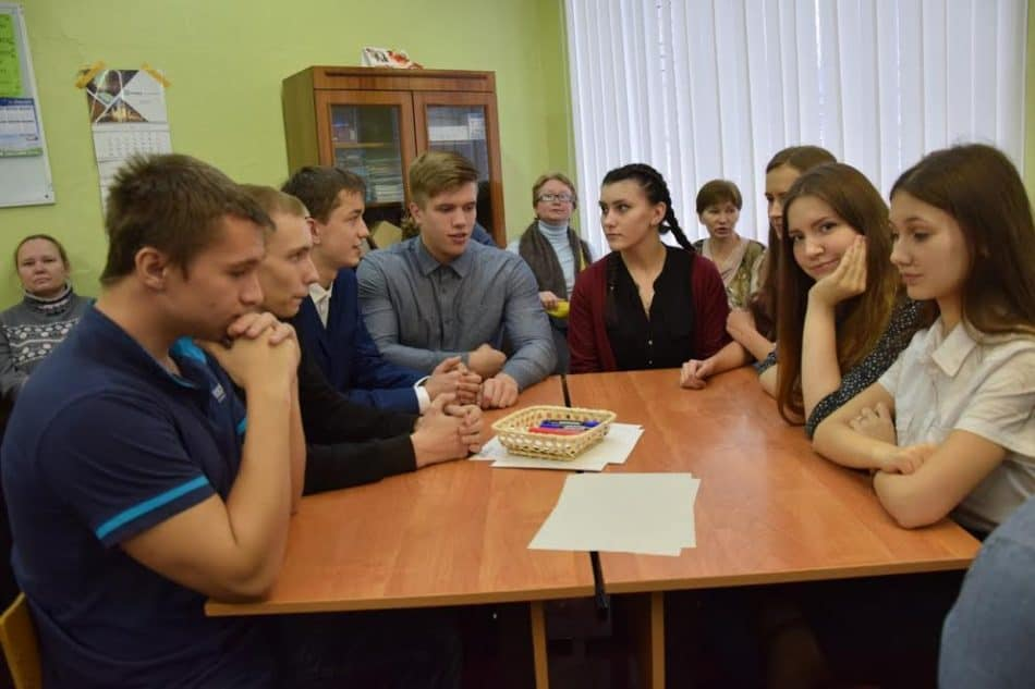 Для старшеклассников в этот день прошла интерактивная игра. Фото Марии Голубевой