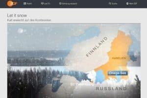 Немецкий телеканал ZDF показал зимнюю Карелию
