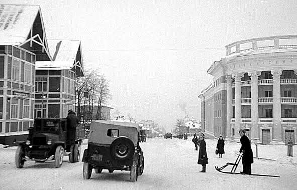 Петрозаводск, проспект Ленина. 1947-1949 гг. Фото Г. Санько