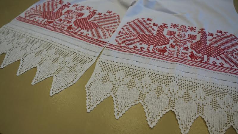 А так выглядели свадебные полотенца. Их воссоздали рукодельницы клуба «Ляпачиха»