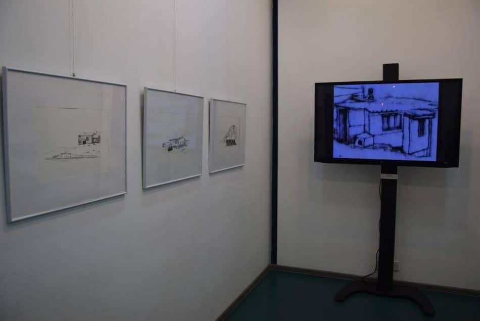 На выставке представлены графические работы и видеоматериалы