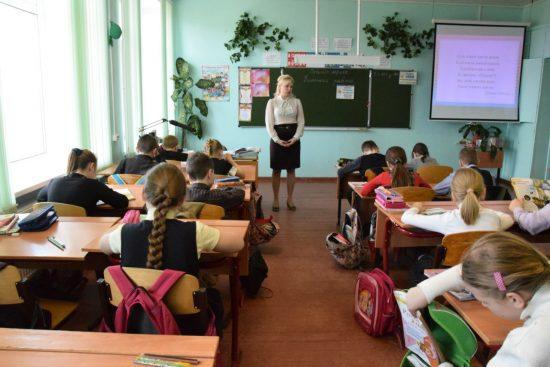 В сельской школе. Фото Марии Голубевой