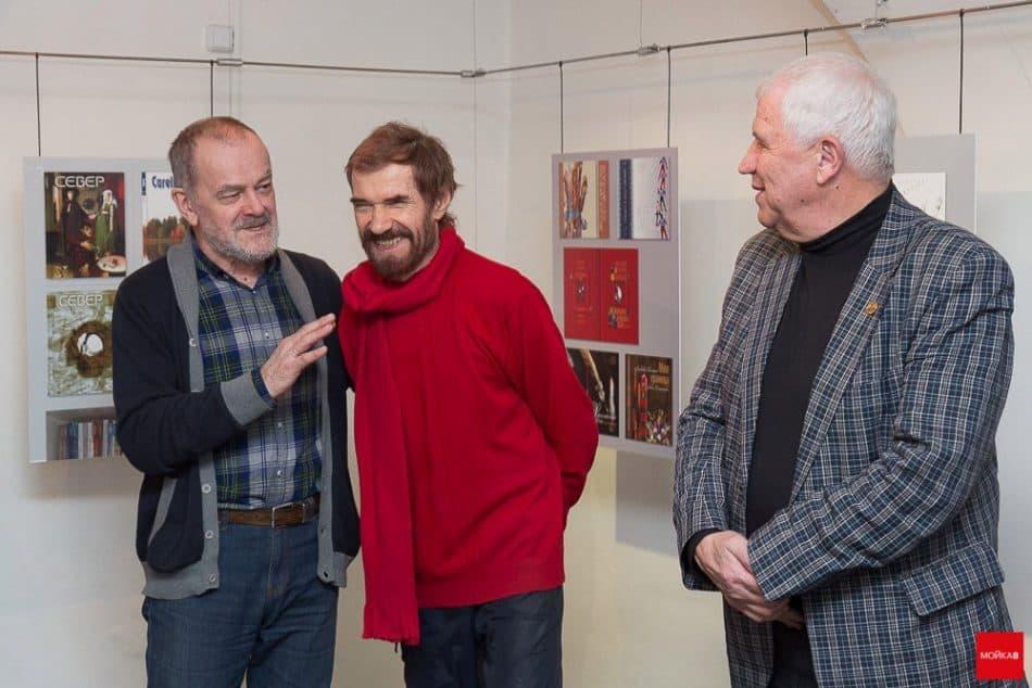 На вернисаже Виталий Наконечный (в центре), Александр Тимофеев (слева) и Георгий Иванов
