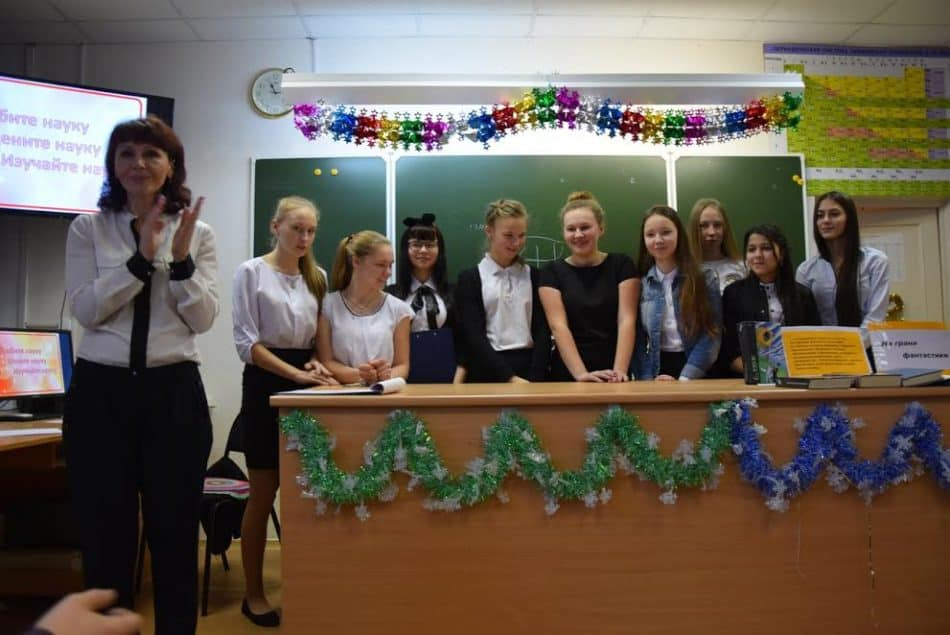 Участники конференции и учитель информатики Маргарита Мартынова