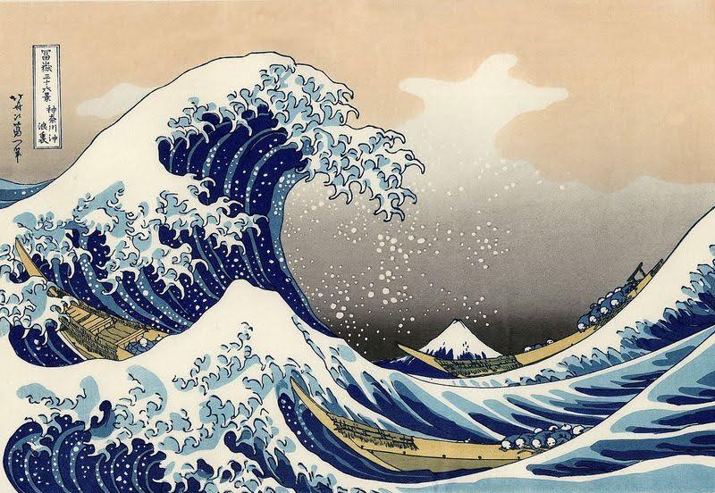 Кацусика Хокусай. Большая волна в Канагаве