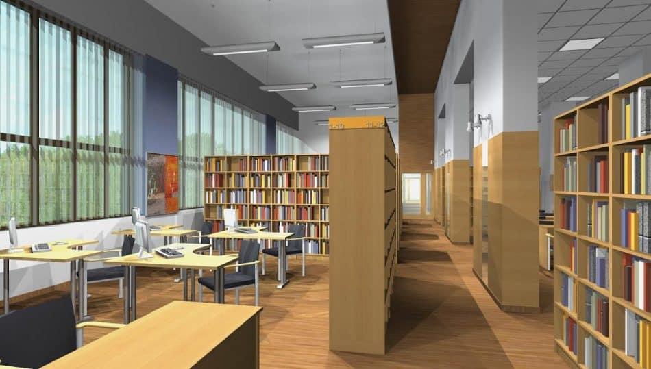 Петрозаводская консерватория. Библиотека. Проект Александра Савельева