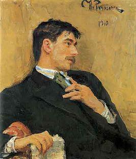 Илья Репин. Портрет Корнея Чуковского. 1910 год