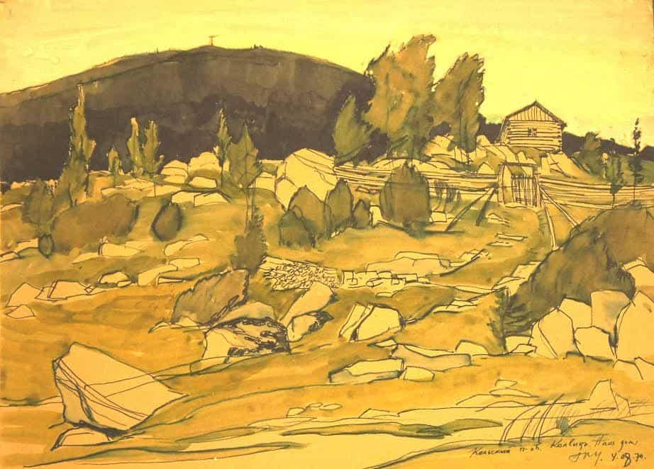 Кольский полуостров. Колвица. Наш дом. 4 августа 1970 года