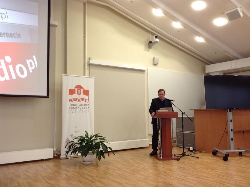 Анджей Метковский в Национальной библиотеке Карелии