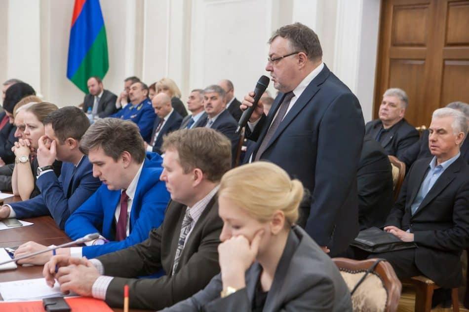 Александр Морозов на совещании по итогам миссии СПЧ. Фото Игоря Подгорного