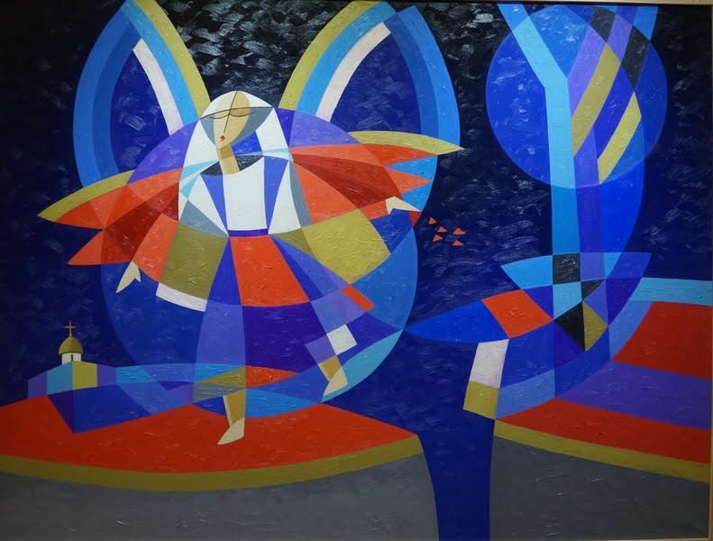 Евгений Орлов. Пейзаж с ангелом в ночи