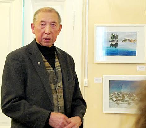 Участников выставки приветствовал Борис Поморцев