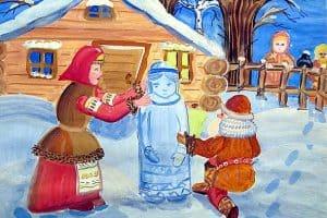 Александра Житкова, г. Кондопога, 11 лет. «Снегурочка». Диплом «За использование народных традиций» в номинации «Изобразительное искусство»