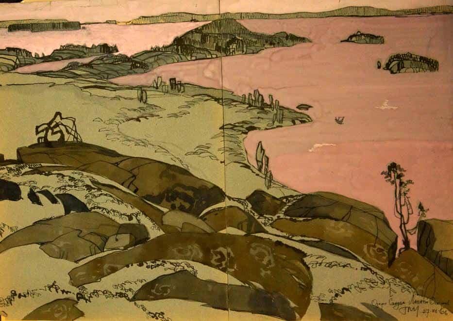 Озеро Сандал. Летний остров. 27 июля 1966 года